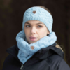 OCT16 Equetech Cable Knit Headband in Frost Blue